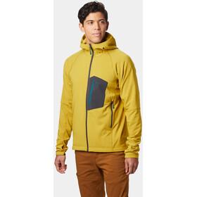 Mountain Hardwear Keele Chaqueta con capucha Hombre, dark citron